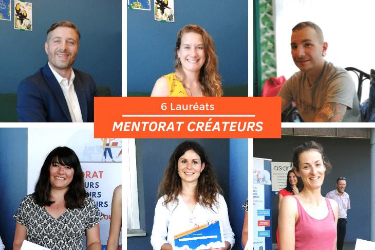 Concours Juin - 6 lauréats mentorat créateurs